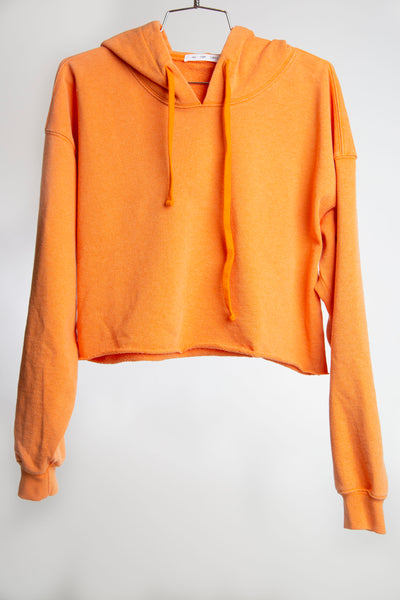 CROPPED HOODIE RECYCLED WATER BOTTLE - HOT ORANGE