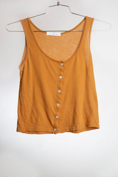BUTTON DOWN TANK - SPICED GINGER