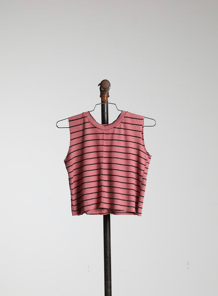 CROPPED MUSCLE - PINK STRIPE HACCI