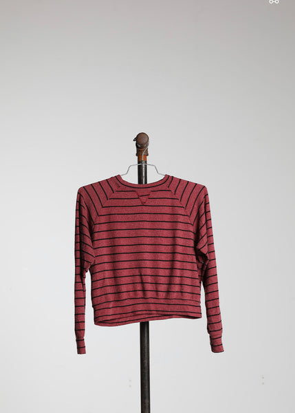 SHRUNKEN SWEATSHIRT - WINE STRIPE HACCI