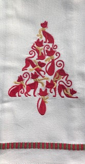 Catmas Tree Tea Towel