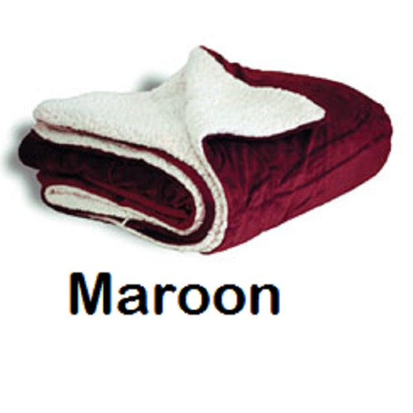 Personalized Faux Sherpa/Micro Mink Throw