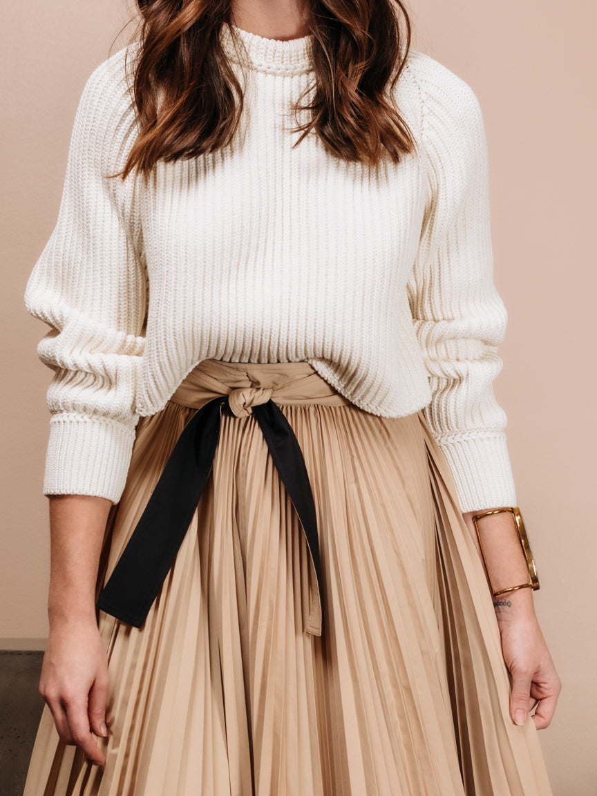 Chunky Cotton Cropped Pullover