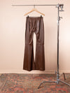 Pintuck Leather Flare Pant