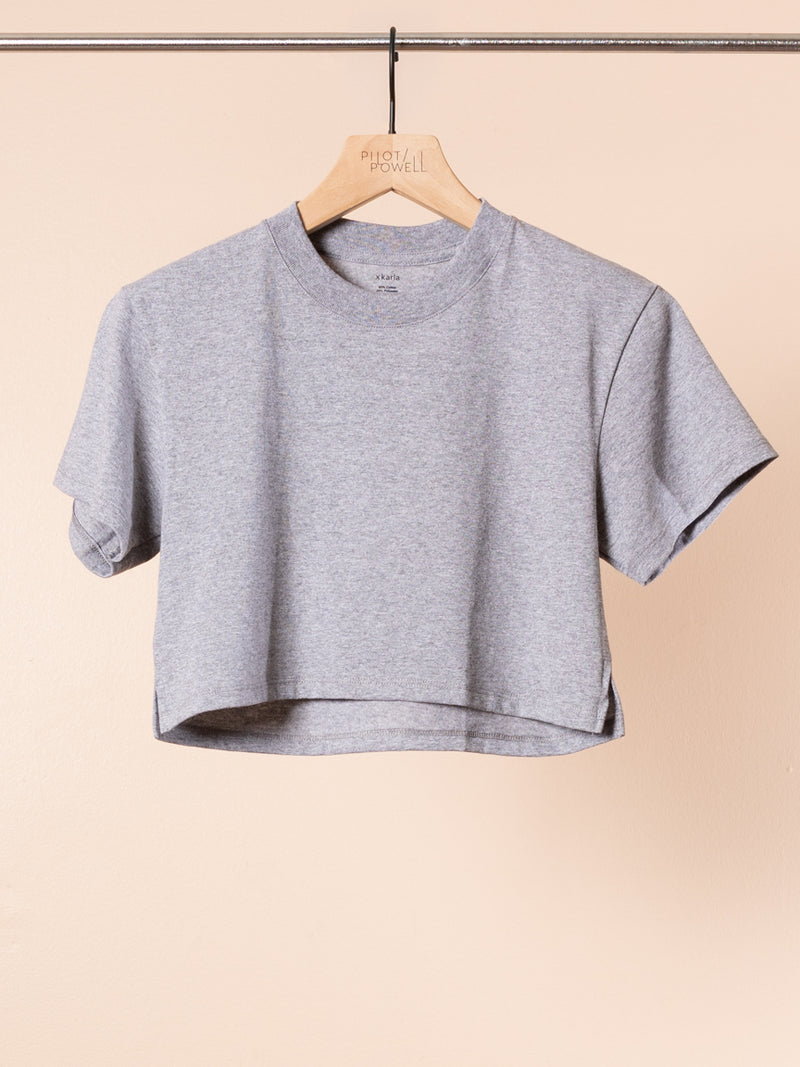 The Crop in Heather Grey
