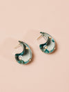 Arp Earrings in Dotted Aqua