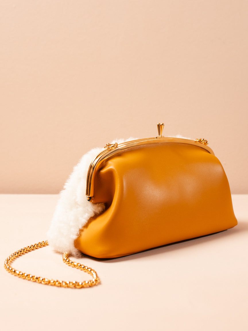 Shearling Chain Handbag