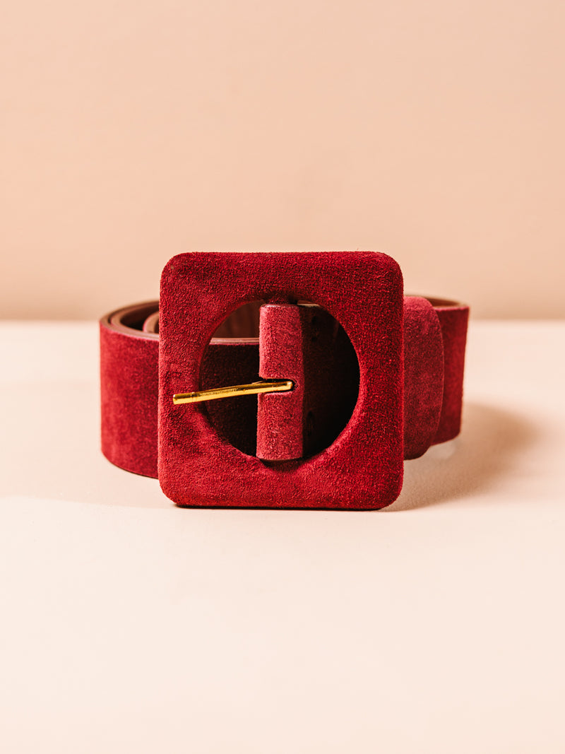 Agnes Belt in Burgundy in XS/S