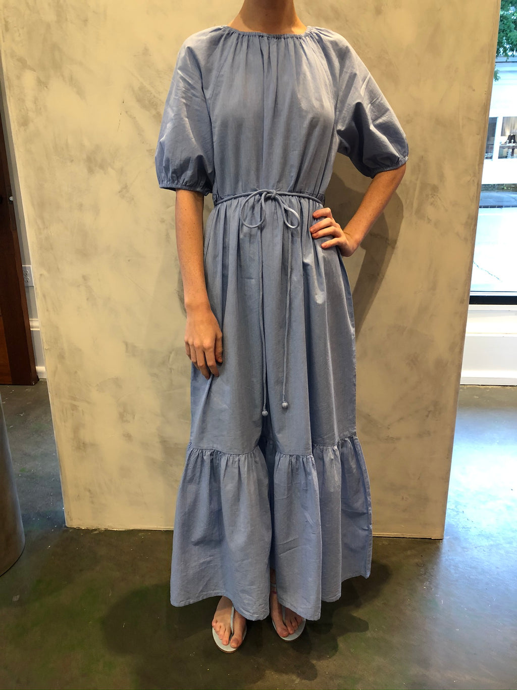 Simone Maxi Dress in Chambray