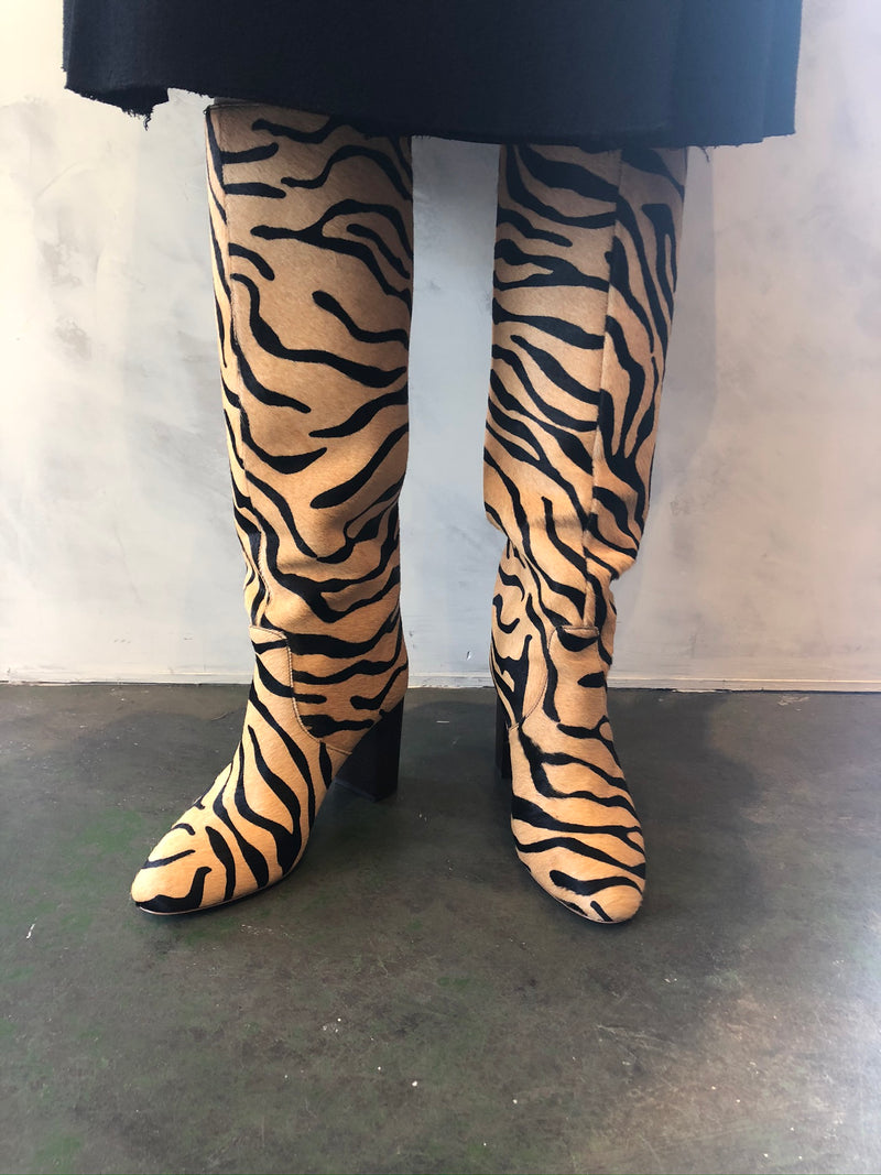 Goldy Tall Boot - Tiger