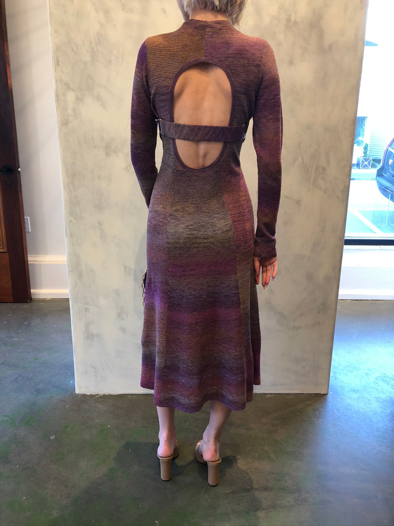 Space Dyed Open Back Dress