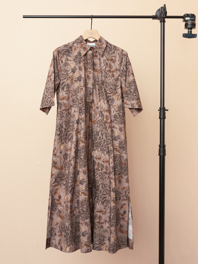 Printed Cotton Shirt Dress