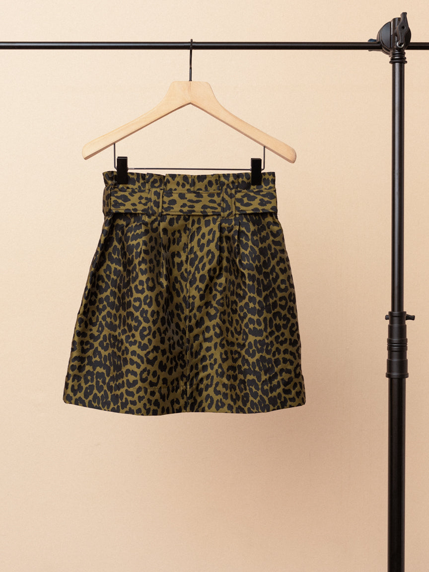 Crispy Jacquard Mini Skirt