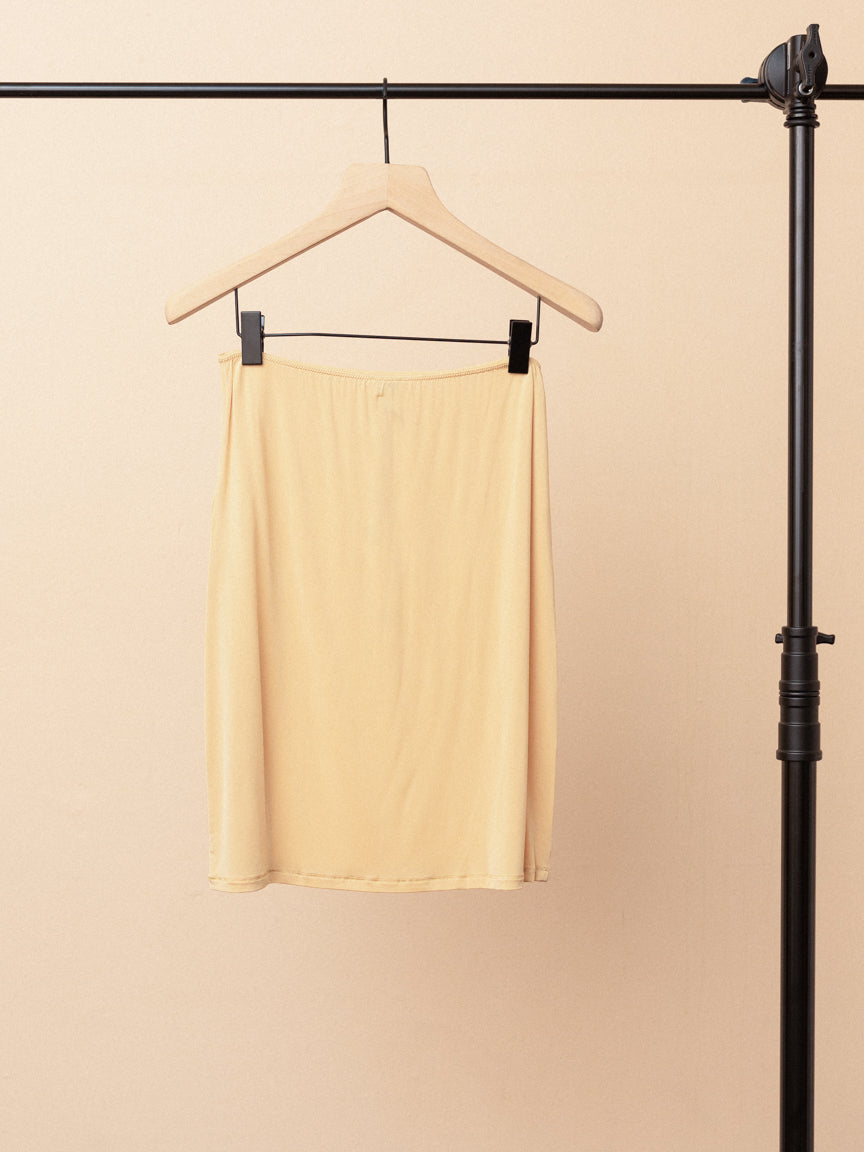 Rayon Slip Skirt in Nude