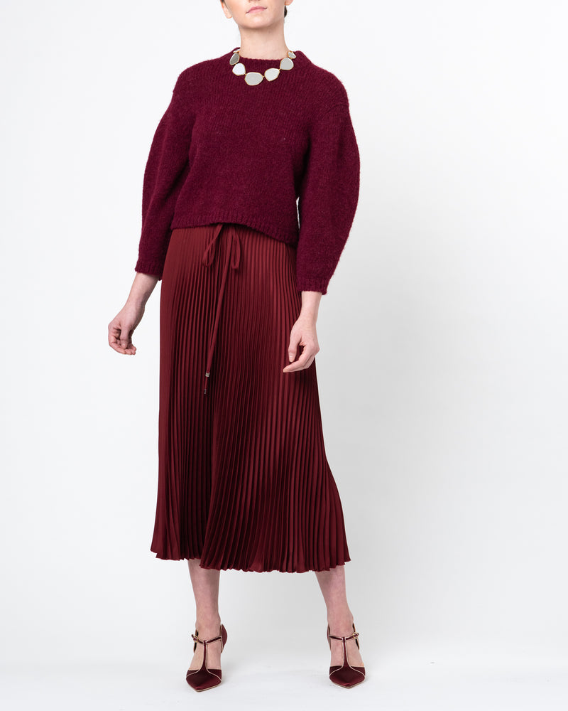 Mendini Twill Pleated Skirt
