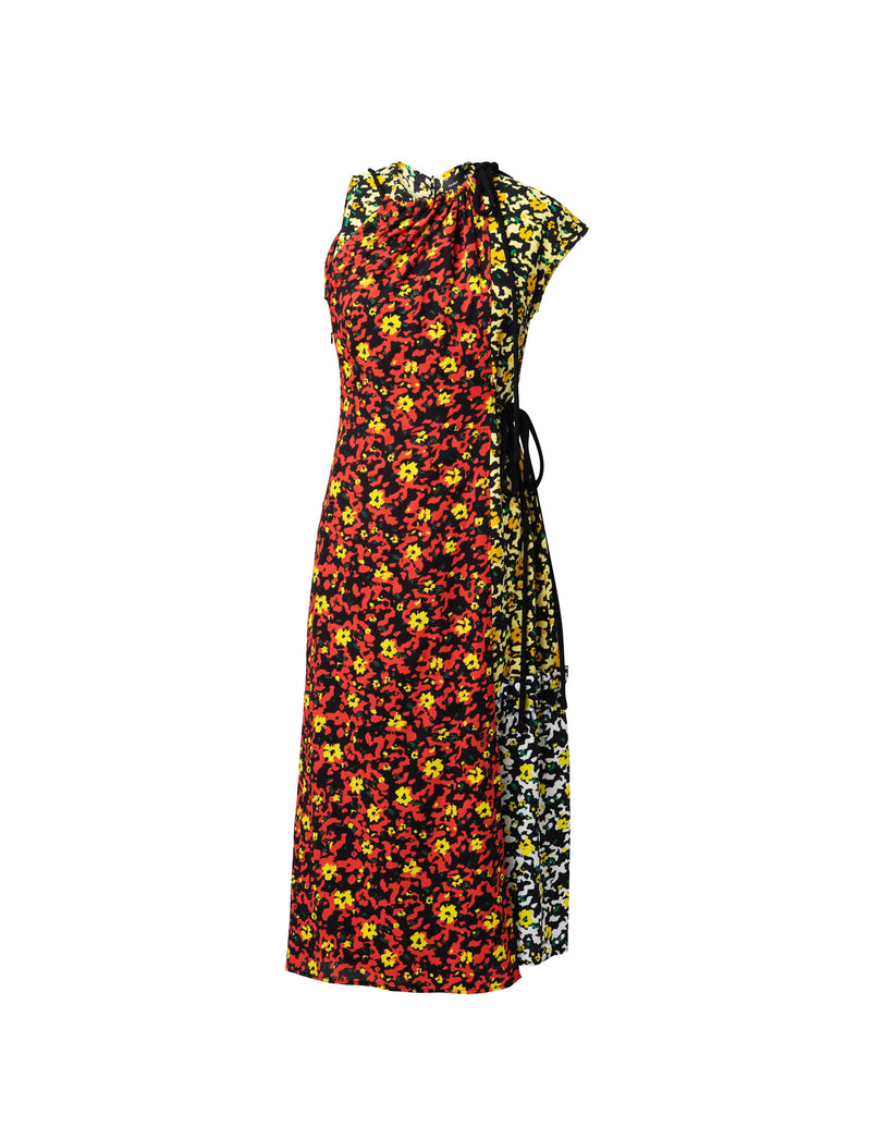 Asymmetrical Floral Printed Dress