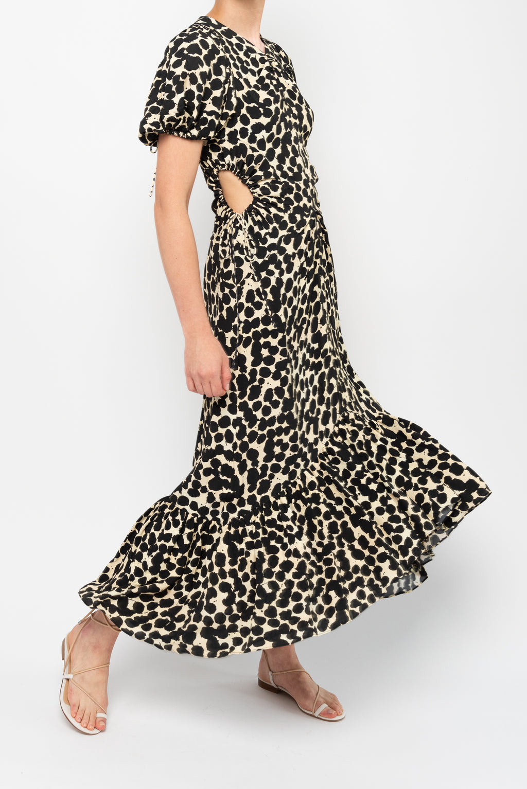 Printed Cinched Dress