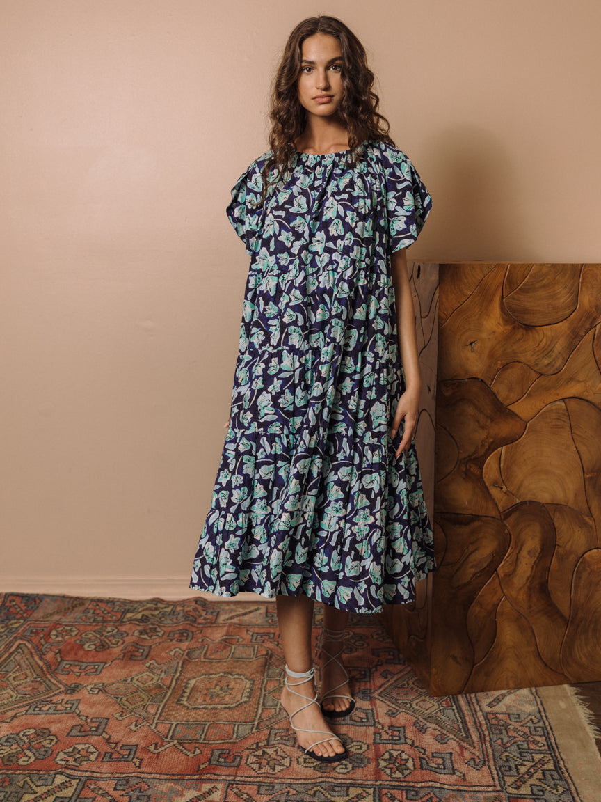 Alegre Dress in Blue Floral