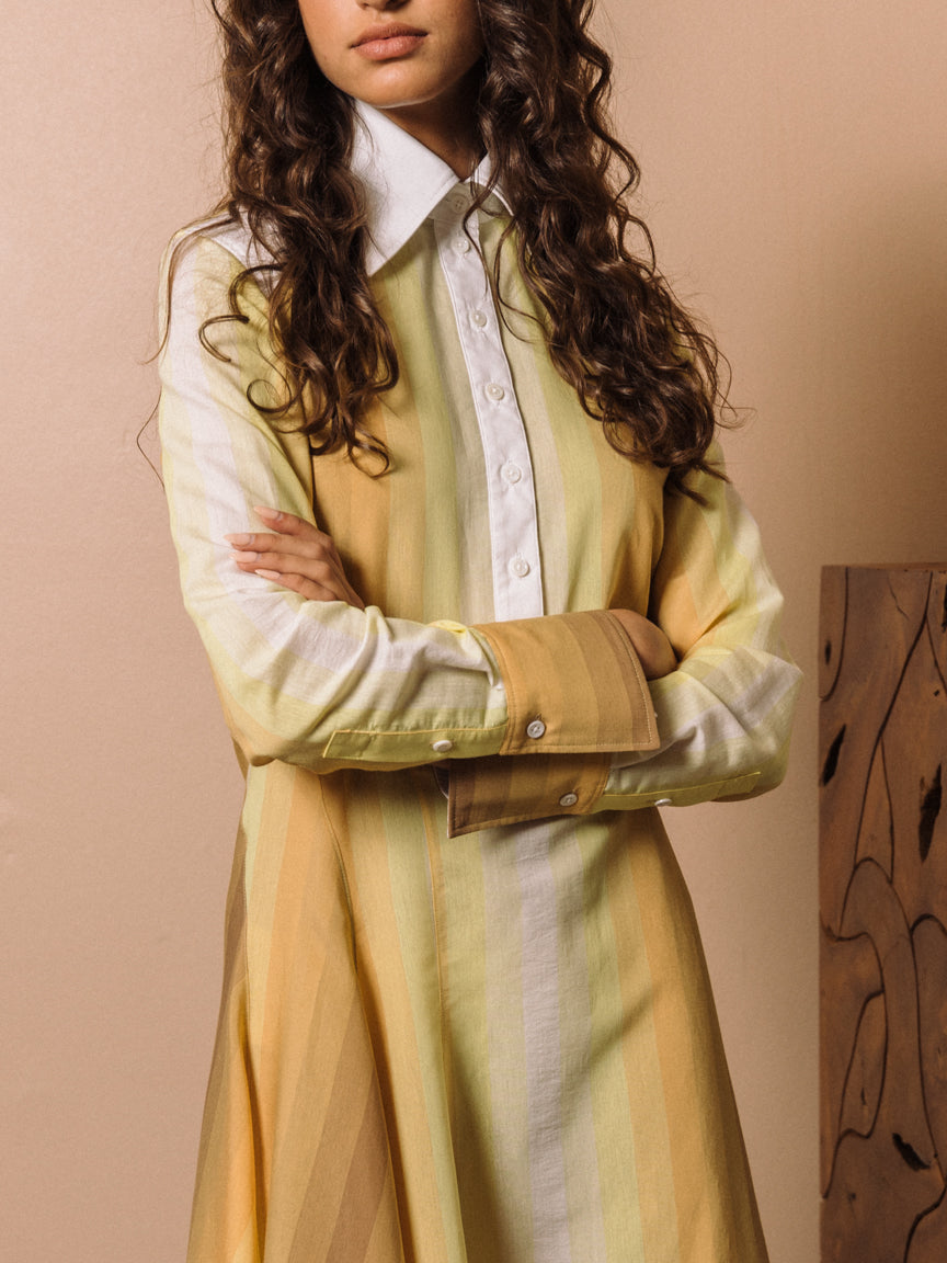 Groovy Shirtdress in Yellow