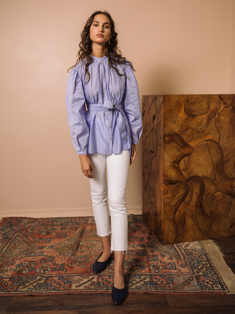 Denise Stand Collar Blouse