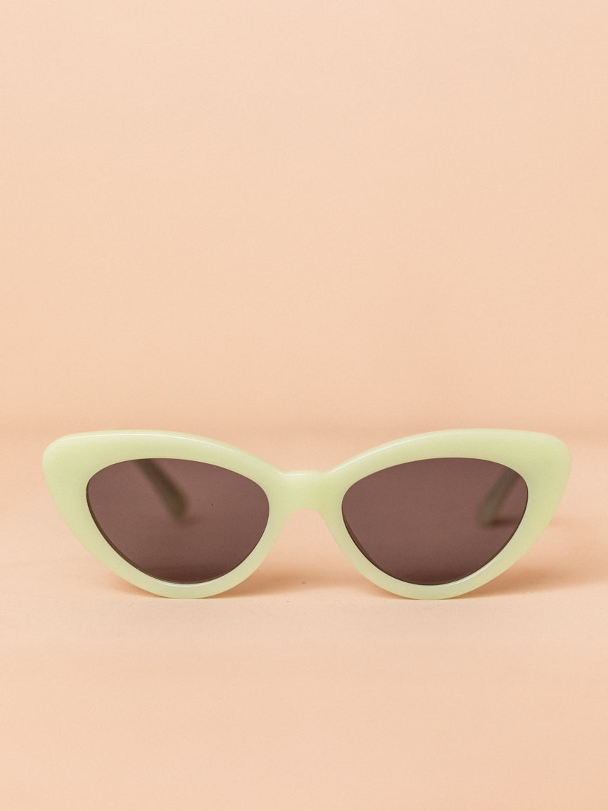 Pamela in Mint with Grey Lenses