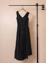 Pleated Asymmetric Dress