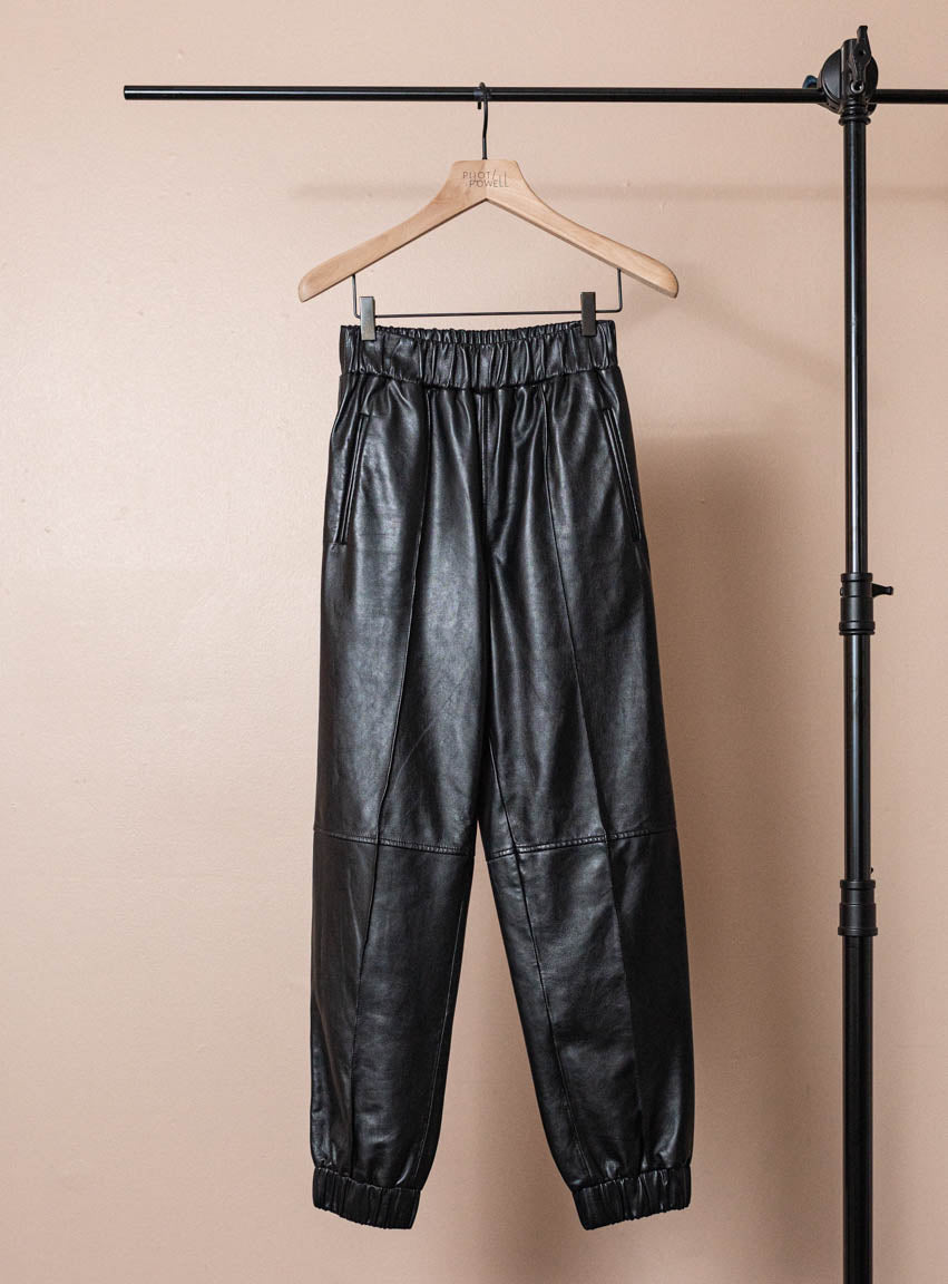 Lamb Leather Joggers