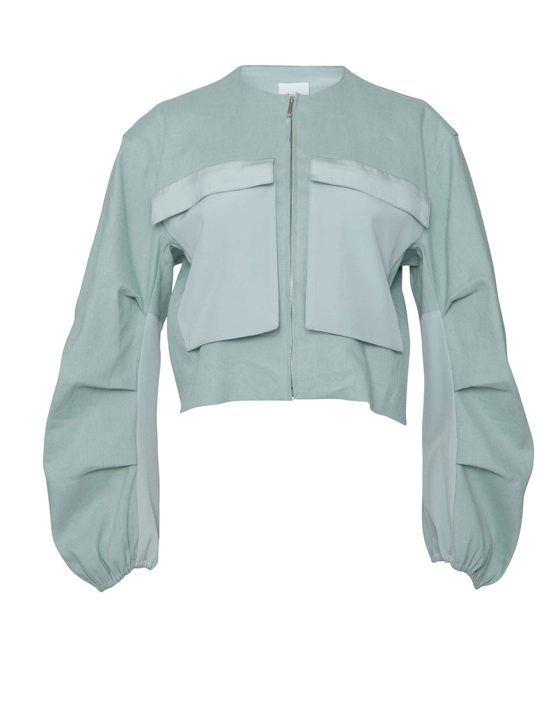 Pleated Utility Jacket