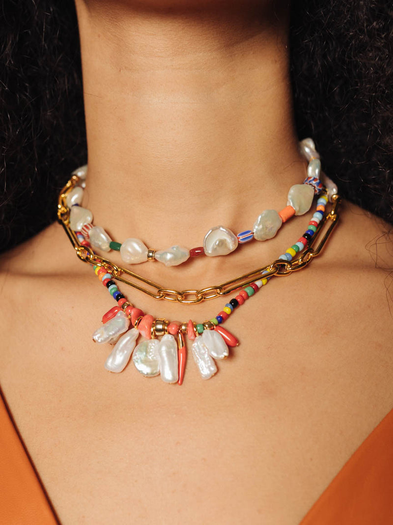 Isola Necklace in Rainbow