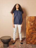 Gathered Poplin Top