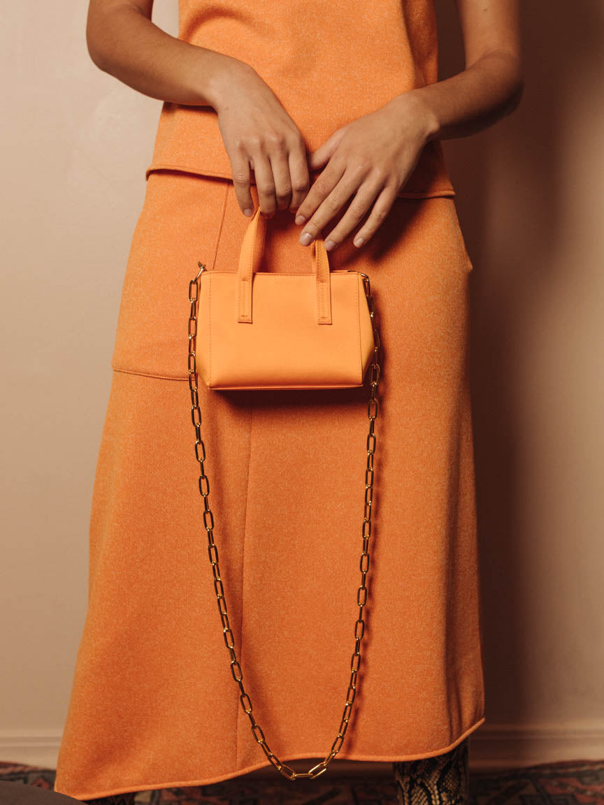 Le Client Mini Bag in Tangerine