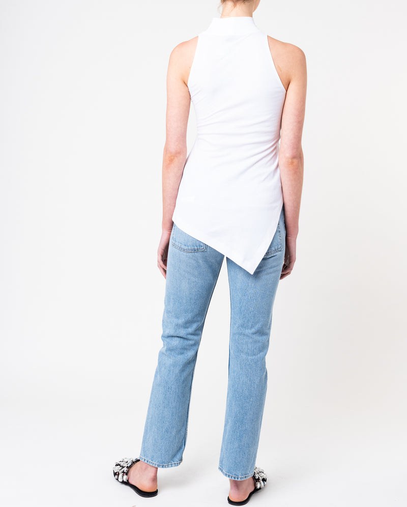 Sleeveless Paneled Turtleneck