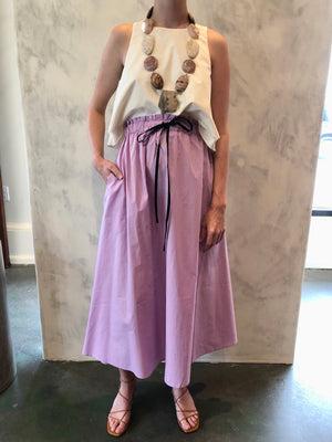 Horchata Cotton Skirt in Lilac