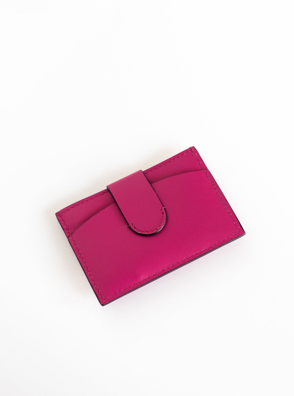 Wallet with Clip in Fuchsia
