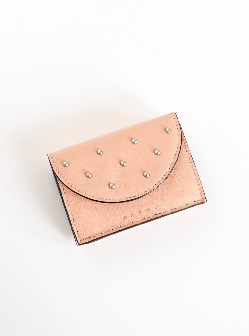 Wallet with Studs in Quartz