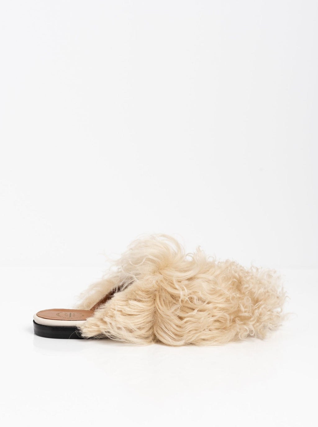 Anzi Ice White Fur Slide