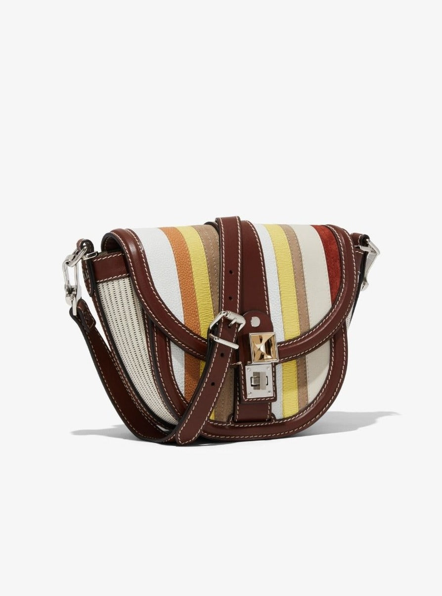 PS11 Small Saddle - Multistripes Patchwork