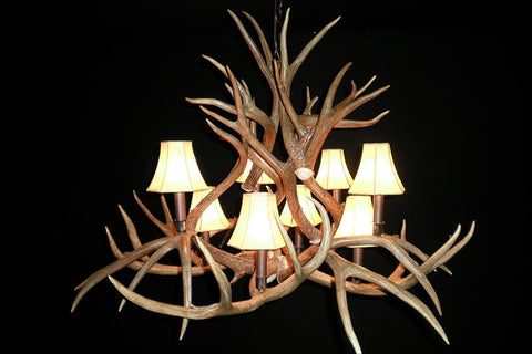 Mule Deer Chandelier – 8 Light - Rocky Mountain Antler Works