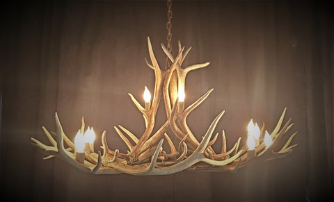 Hahn's Peak Elk Antler Chandelier - Rocky Mountain Antler Works