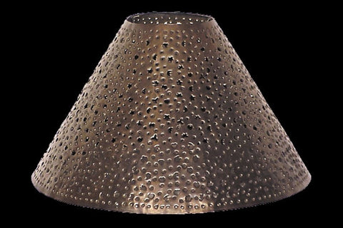 Lamp Shade – Aged Tin Extra Punched – DFM - RMAW