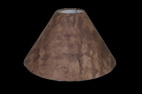Lamp Shade – Brown Amate Bark Paper – DFM - RMAW