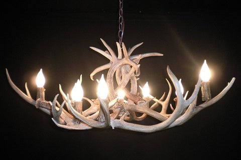 "The ""Low Rider"" Deer Antler Chandelier - RMAW"