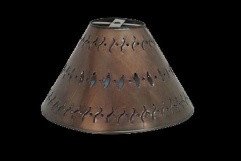 Large Punched Metal Lamp Shade - RMAW