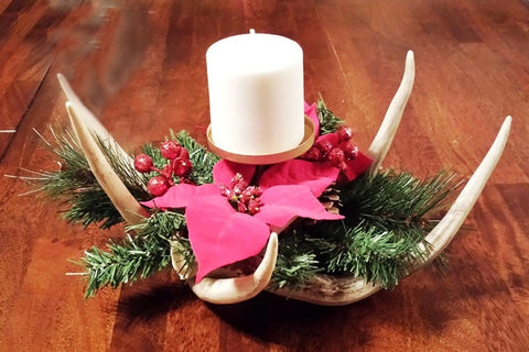 Deer Antler Christmas Centerpiece - RMAW
