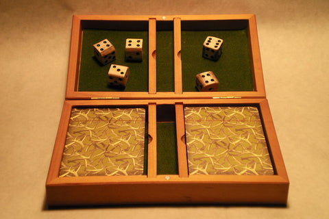 Antler Dice with Playing Card Set - RMAW