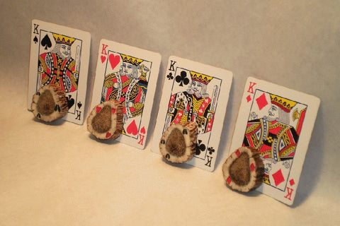 Hand Carved/Painted Poker Card Guard Protector – Elk Antler - Rocky Mountain Antler Works