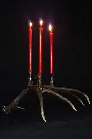 Deer Antler Candle Holder - Rocky Mountain Antler Works