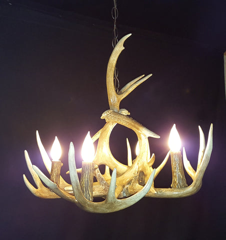 Little Brother Deer Antler Chandelier - RMAW