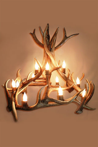 Elk Antler Chandelier - Rocky Mountain Antler Works