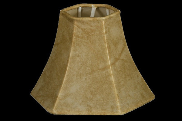 Faux Leather 5″ Hexagon Chandelier Lamp Shade, Mouton - RMAW